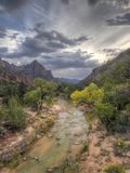 Zion National Park, Utah. Zion National Park is an American national park located in Southwestern Utah near the city of Springdale.virgin river royalty free stock image