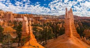 Zion National Park, Utah, paysage de perspective en automne images stock