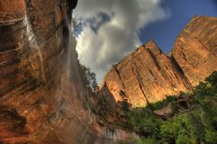 Zion National Park Utah South-West-Amerika stock afbeelding