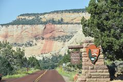 Zion National Park in Utah Stock Photography