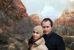 The Zion national park in Utah on winter Royalty Free Stock Photo
