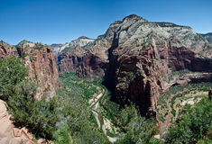Zion national park valley Stock Images