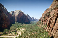 Zion national park valley Stock Photo