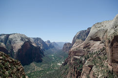 Zion national park valley Stock Photography