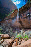 Zion National Park Waterfall Royalty Free Stock Photography