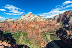 Zion National Park Wide Angle Royalty Free Stock Photo