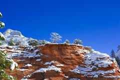 Zion National Park in Winter Royalty Free Stock Images