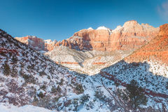 Zion National Park in winter. Royalty Free Stock Photography