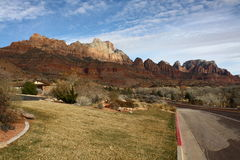 Zion National Park in winter, Utah, USA Stock Photo