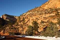 Zion National Park in winter, Utah, USA Royalty Free Stock Photography