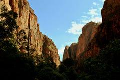 Zion nationalpark Arkivbilder