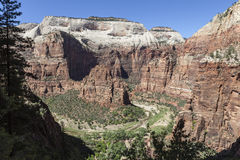 Zion nationalpark Utah Royaltyfri Bild