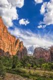 Zion Nationalpark am Sonnenuntergang Lizenzfreies Stockbild
