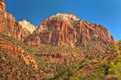 Zion Nationalpark, Utah, USA stockbilder