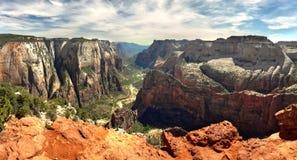 Zion nationalpark, utah USA arkivfoto