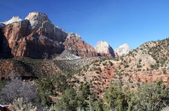 Zion nationalpark, Utah, USA Royaltyfri Bild