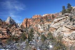 Zion nationalpark, Utah, USA Arkivfoto