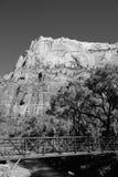 Zion negro y blanco Fotografía de archivo
