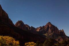 Zion Night Landscape Stock Image