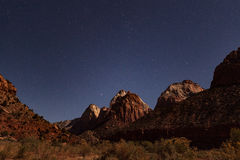 Zion Night Scenic Landscape Royalty Free Stock Images