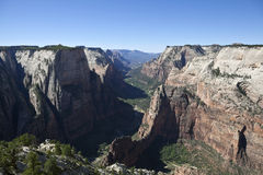 Zion Observation Point View Royalty Free Stock Photography