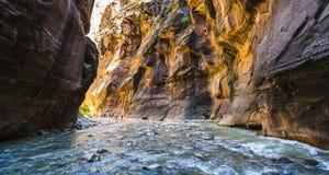 Zion park narodowy, Utah, usa 06/02/16: zion przesmyk w Zion narodzie Fotografia Royalty Free