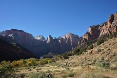 Zion park narodowy Utah, Zlani stany zdjęcie royalty free