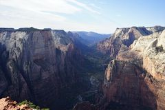 Zion park narodowy Utah, Zlani stany fotografia royalty free