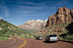Zion park road Royalty Free Stock Photo
