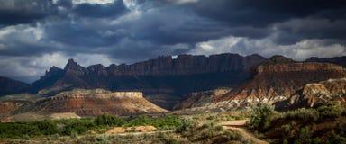 Zion parka narodowego grzmotu burza Obraz Royalty Free