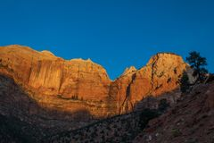 Zion parka narodowego Niewygładzony krajobraz fotografia royalty free