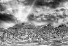 Zion parka narodowego panoramiczny widok z lotu ptaka przy zmierzchem, Utah Obraz Stock