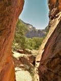 Zion parka narodowego szczelina fotografia royalty free