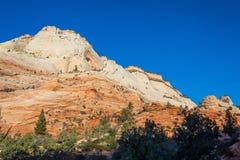 Zion parka narodowego Utah Niewygładzony krajobraz obraz stock