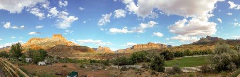 Zion parka narodowego Utah panorama Zdjęcia Royalty Free