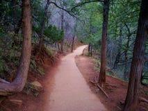 Zion Pathway met Rode Aarde Royalty-vrije Stock Fotografie