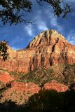 A Zion Peak at Sunset stock photo