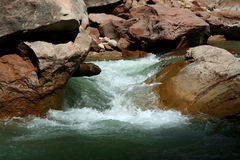 Zion River. Zion National Park River royalty free stock image