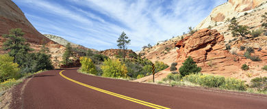 Zion road Royalty Free Stock Images
