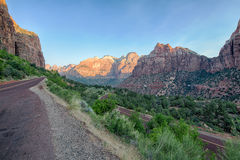 Zion road Stock Images
