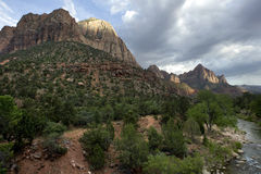 Zion rock formations Stock Photo