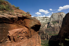 Zion rock formations Royalty Free Stock Images