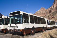 Zion shuttle buses Royalty Free Stock Photos