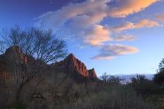Zion solnedgång Arkivbilder