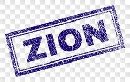 Grunge ZION Rectangle Stamp vector illustration