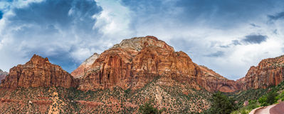 Zion_Storm_Pano Royalty Free Stock Images