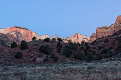 Zion Sunrise Landscape Stockfoto