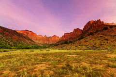 Zion at sunrise Stock Images