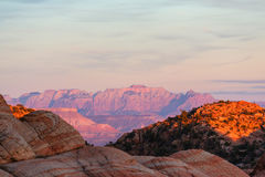 Zion at sunset Royalty Free Stock Photo