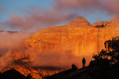 Zion at sunset Royalty Free Stock Photos